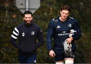 24 February 2020; Barry Daly and Ryan Baird arrive ahead of Leinster Rugby Squad Training at Leinster Rugby Headquarters at Rosemount in UCD, Dublin. Photo by Sam Barnes/Sportsfile