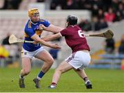 23 February 2020; Aonghus Clarke of Westmeath in action against Cian Darcy of Tipperary during the Allianz Hurling League Division 1 Group A Round 4 match between Tipperary and Westmeath at Semple Stadium in Thurles, Co Tipperary. Photo by Harry Murphy/Sportsfile