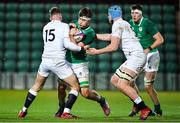 21 February 2020; Brian Deeny of Ireland is tackled by Freddie Steward of England during the Six Nations U20 Rugby Championship match between England and Ireland at Franklin's Gardens in Northampton, England. Photo by Brendan Moran/Sportsfile