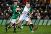 21 February 2020; George Barton of England is tackled by Lewis Finlay of Ireland during the Six Nations U20 Rugby Championship match between England and Ireland at Franklin's Gardens in Northampton, England. Photo by Brendan Moran/Sportsfile