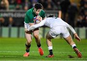 21 February 2020; Andrew Smith of Ireland is tackled by Sam Maunder of England during the Six Nations U20 Rugby Championship match between England and Ireland at Franklin's Gardens in Northampton, England. Photo by Brendan Moran/Sportsfile