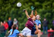 23 February 2020; Siobhán Divilly of Galway in action against Jennifer Dunne, right, and Leah Caffrey of Dublin during the 2020 Lidl Ladies National Football League Division 1 Round 4 match between Dublin and Galway at Dublin City University Sportsgrounds in Glasnevin, Dublin. Photo by Piaras Ó Mídheach/Sportsfile