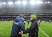 22 February 2020; Dublin manager Dessie Farrell and Donegal manager Declan Bonner following the Allianz Football League Division 1 Round 4 match between Dublin and Donegal at Croke Park in Dublin. Photo by Eóin Noonan/Sportsfile
