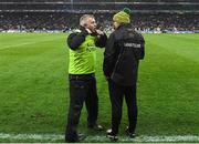 22 February 2020; Donegal manager Declan Bonner with coach Stephen Rochford during the Allianz Football League Division 1 Round 4 match between Dublin and Donegal at Croke Park in Dublin. Photo by Eóin Noonan/Sportsfile