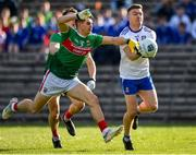 23 February 2020; Conor McCarthy of Monaghan in action against Oisin Mullin of Mayo during the Allianz Football League Division 1 Round 4 match between Monaghan and Mayo at St Tiernach's Park in Clones, Monaghan. Photo by Oliver McVeigh/Sportsfile