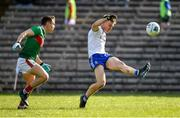 23 February 2020; Conor McCarthy of Monaghan in action against Lee Keegan of Mayo during the Allianz Football League Division 1 Round 4 match between Monaghan and Mayo at St Tiernach's Park in Clones, Monaghan. Photo by Oliver McVeigh/Sportsfile