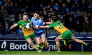 22 February 2020; Colm Basquel of Dublin in action against Eoghan Bán Gallagher, left, and Peadar Mogan of Donegal during the Allianz Football League Division 1 Round 4 match between Dublin and Donegal at Croke Park in Dublin. Photo by Sam Barnes/Sportsfile