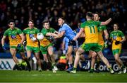 22 February 2020; Colm Basquel of Dublin in action against Eoghan Bán Gallagher of Donegal during the Allianz Football League Division 1 Round 4 match between Dublin and Donegal at Croke Park in Dublin. Photo by Sam Barnes/Sportsfile