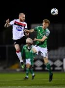 24 February 2020; Chris Shields of Dundalk in action against Alec Byrne of Cork City during the SSE Airtricity League Premier Division match between Dundalk and Cork City at Oriel Park in Dundalk, Louth. Photo by Seb Daly/Sportsfile