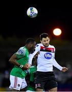 24 February 2020; Patrick Hoban of Dundalk in action against Joseph Olowu of Cork City during the SSE Airtricity League Premier Division match between Dundalk and Cork City at Oriel Park in Dundalk, Louth. Photo by Seb Daly/Sportsfile