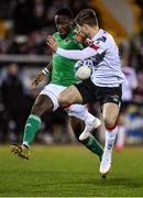24 February 2020; Joseph Olowu of Cork City in action against Cammy Smith of Dundalk during the SSE Airtricity League Premier Division match between Dundalk and Cork City at Oriel Park in Dundalk, Louth. Photo by Seb Daly/Sportsfile