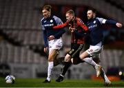 24 February 2020; Glen McAuley of Bohemians is tackled by Teemu Penninkangas, left, and Kyle Callan-McFadden of Sligo Rovers during the SSE Airtricity League Premier Division match between Bohemians and Sligo Rovers at Dalymount Park in Dublin. Photo by Eóin Noonan/Sportsfile