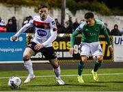 24 February 2020; Cammy Smith of Dundalk in action against Daire O'Connor of Cork City during the SSE Airtricity League Premier Division match between Dundalk and Cork City at Oriel Park in Dundalk, Louth. Photo by Ben McShane/Sportsfile