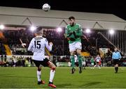 24 February 2020; Cory Galvin of Cork City in action against Darragh Leahy of Dundalk during the SSE Airtricity League Premier Division match between Dundalk and Cork City at Oriel Park in Dundalk, Louth. Photo by Seb Daly/Sportsfile