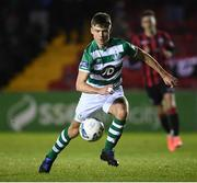 22 February 2020; Adam Wells of Shamrock Rovers II during the SSE Airtricity League First Division match between Longford Town and Shamrock Rovers II at Bishopsgate in Longford. Photo by Stephen McCarthy/Sportsfile