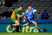 22 February 2020; Colm Basquel of Dublin in action against Hugh McFadden of Donegal during the Allianz Football League Division 1 Round 4 match between Dublin and Donegal at Croke Park in Dublin. Photo by Sam Barnes/Sportsfile