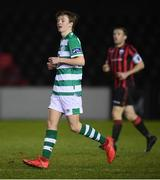 22 February 2020; Conan Noonan of Shamrock Rovers II during the SSE Airtricity League First Division match between Longford Town and Shamrock Rovers II at Bishopsgate in Longford. Photo by Stephen McCarthy/Sportsfile