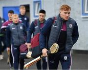 23 February 2020; Conor Whelan of Galway arrives alongside his team-mates prior to the Allianz Hurling League Division 1 Group A Round 4 match between Waterford and Galway at Walsh Park in Waterford. Photo by Seb Daly/Sportsfile