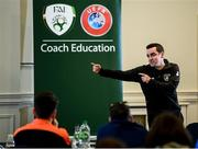23 February 2020; Ger McDermott, Club and League Development Manager, FAI, during the FAI Football Fitness Conference 2020 at Johnstown House in Enfield, Co. Meath. Photo by Stephen McCarthy/Sportsfile