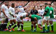 23 February 2020; The England and Ireland packs prepare to engage in a scrum watched by referee Jaco Peyper during the Guinness Six Nations Rugby Championship match between England and Ireland at Twickenham Stadium in London, England. Photo by Brendan Moran/Sportsfile