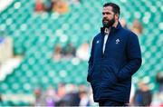 23 February 2020; Ireland head coach Andy Farrell prior to the Guinness Six Nations Rugby Championship match between England and Ireland at Twickenham Stadium in London, England. Photo by Brendan Moran/Sportsfile