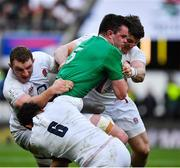 23 February 2020; James Ryan of Ireland is tackled by Courtney Lawes, Sam Underhill and Tom Curry of England during the Guinness Six Nations Rugby Championship match between England and Ireland at Twickenham Stadium in London, England. Photo by Brendan Moran/Sportsfile