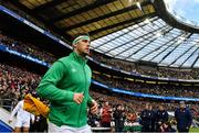 23 February 2020; Caelan Doris of Ireland runs out prior to the Guinness Six Nations Rugby Championship match between England and Ireland at Twickenham Stadium in London, England. Photo by Brendan Moran/Sportsfile