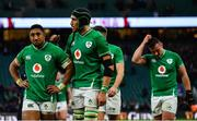 23 February 2020; Ireland players Bundee Aki, left, and Ultan Dillane leave the pitch after the Guinness Six Nations Rugby Championship match between England and Ireland at Twickenham Stadium in London, England. Photo by Brendan Moran/Sportsfile