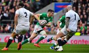 23 February 2020; Jonathan Sexton of Ireland in action against Jamie George and Joe Marler of England during the Guinness Six Nations Rugby Championship match between England and Ireland at Twickenham Stadium in London, England. Photo by Brendan Moran/Sportsfile