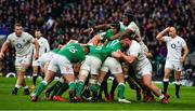 23 February 2020; Ultan Dillane of Ireland controls a maul from Maro Itoje of England during the Guinness Six Nations Rugby Championship match between England and Ireland at Twickenham Stadium in London, England. Photo by Brendan Moran/Sportsfile