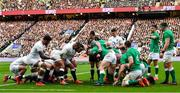 23 February 2020; The England and Ireland packs prepare to engage in a scrum during the Guinness Six Nations Rugby Championship match between England and Ireland at Twickenham Stadium in London, England. Photo by Brendan Moran/Sportsfile