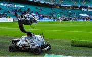 23 February 2020; A mobile TV camera is seen behind the goals during the Guinness Six Nations Rugby Championship match between England and Ireland at Twickenham Stadium in London, England. Photo by Brendan Moran/Sportsfile