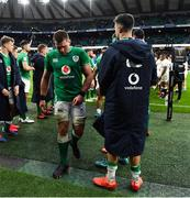23 February 2020; CJ Stander of Ireland leaves the pitch after the Guinness Six Nations Rugby Championship match between England and Ireland at Twickenham Stadium in London, England. Photo by Brendan Moran/Sportsfile