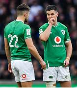 23 February 2020; Jonathan Sexton, right, and Ross Byrne of Ireland during the Guinness Six Nations Rugby Championship match between England and Ireland at Twickenham Stadium in London, England. Photo by Brendan Moran/Sportsfile
