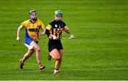23 February 2020; Collette Dormer of Kilkenny races clear of Laura McMahon of Clare during the Littlewoods Ireland Camogie League Division 1 match between Kilkenny and Clare at UPMC Nowlan Park in Kilkenny. Photo by Ray McManus/Sportsfile