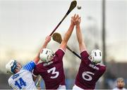 23 February 2020; Stephen Bennett of Waterford in action against Gearoid McInerney, centre, and Shane Cooney of Galway during the Allianz Hurling League Division 1 Group A Round 4 match between Waterford and Galway at Walsh Park in Waterford. Photo by Seb Daly/Sportsfile