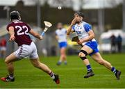 23 February 2020; Jamie Barron of Waterford in action against Sean Linnane of Galway during the Allianz Hurling League Division 1 Group A Round 4 match between Waterford and Galway at Walsh Park in Waterford. Photo by Seb Daly/Sportsfile