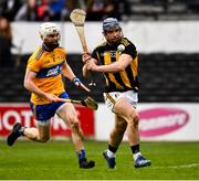 23 February 2020; Ger Aylward of Kilkenny shoots goalwards despite pressure from Liam Corry of Clare during the Allianz Hurling League Division 1 Group B Round 4 match between Kilkenny and Clare at UPMC Nowlan Park in Kilkenny. Photo by Ray McManus/Sportsfile