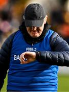 23 February 2020; Clare manager Brian Lohan checks the time before the start of the Allianz Hurling League Division 1 Group B Round 4 match between Kilkenny and Clare at UPMC Nowlan Park in Kilkenny. Photo by Ray McManus/Sportsfile