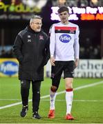24 February 2020; Sean Gannon of Dundalk, right, with Dundalk first team coach John Gill following the SSE Airtricity League Premier Division match between Dundalk and Cork City at Oriel Park in Dundalk, Louth. Photo by Ben McShane/Sportsfile