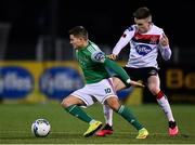 24 February 2020; Daire O'Connor of Cork City and Darragh Leahy of Dundalk during the SSE Airtricity League Premier Division match between Dundalk and Cork City at Oriel Park in Dundalk, Louth. Photo by Ben McShane/Sportsfile