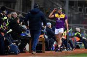 22 February 2020; Conor McDonald of Wexford after being sent off by referee Johnny Murphy during the Allianz Hurling League Division 1 Group B Round 4 match between Dublin and Wexford at Croke Park in Dublin. Photo by Eóin Noonan/Sportsfile