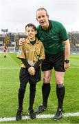 22 February 2020; Referee Johnny Murphy with young referee Jack Rothwell prior to the Allianz Hurling League Division 1 Group B Round 4 match between Dublin and Wexford at Croke Park in Dublin. Photo by Eóin Noonan/Sportsfile