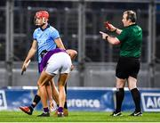 22 February 2020; Eoghan O'Donnell of Dublin is shown a red card by referee Johnny Murphy during the Allianz Hurling League Division 1 Group B Round 4 match between Dublin and Wexford at Croke Park in Dublin. Photo by Eóin Noonan/Sportsfile