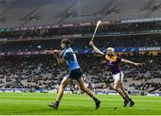 22 February 2020; Ronan Hayes of Dublin and Liam Ryan of Wexford during the Allianz Hurling League Division 1 Group B Round 4 match between Dublin and Wexford at Croke Park in Dublin. Photo by Eóin Noonan/Sportsfile
