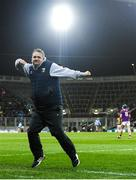 22 February 2020; Wexford manager Davy Fitzgerald celebrates after his side score a late goal during the Allianz Hurling League Division 1 Group B Round 4 match between Dublin and Wexford at Croke Park in Dublin. Photo by Eóin Noonan/Sportsfile