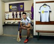 26 February 2020; Wexford hurler Lee Chin at the official announcement of Chadwicks' naming rights partnership with Wexford GAA that sees the home of Wexford GAA renamed to Chadwicks Wexford Park. Chadwicks is Ireland's leading supplier of building materials, bathrooms, heating and home & garden products. Photo by Matt Browne/Sportsfile