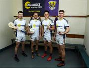 26 February 2020; Wexford players, from left, Rory O'Connor, Brian Malone, Lee Chin and Eoin Porter at the official announcement of Chadwicks' naming rights partnership with Wexford GAA that sees the home of Wexford GAA renamed Chadwicks Wexford Park. Chadwicks is Ireland's leading supplier of building materials, bathrooms, heating and home & garden products. Photo by Matt Browne/Sportsfile