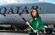 26 February 2020; The Olympic Federation of Ireland will fly athletes in business class to the Olympic Games in Tokyo with Qatar Airways. With less than five months left until the Opening Ceremony in Tokyo, the composition of Team Ireland is starting to take real shape. Qatar Airways has a 5 star rating by Skytrax, which also awarded the airline 'World's Best Business Class'. Athletes will benefit from the full lie flat beds and catering to suit their nutritional routine. The mood lighting will adjust the athletes' body clock to the Tokyo time zone and the cabin is pressureised to a lower altitude which equates to more oxygen and less travel fatigue. In attendance at the announcement is hockey player Anna O'Flanagan. Photo by Brendan Moran/Sportsfile