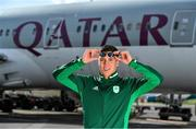 26 February 2020; The Olympic Federation of Ireland will fly athletes in business class to the Olympic Games in Tokyo with Qatar Airways. With less than five months left until the Opening Ceremony in Tokyo, the composition of Team Ireland is starting to take real shape. Qatar Airways has a 5 star rating by Skytrax, which also awarded the airline 'World's Best Business Class'. Athletes will benefit from the full lie flat beds and catering to suit their nutritional routine. The mood lighting will adjust the athletes' body clock to the Tokyo time zone and the cabin is pressureised to a lower altitude which equates to more oxygen and less travel fatigue. In attendance at the announcement is swimmer Darragh Greene. Photo by Brendan Moran/Sportsfile